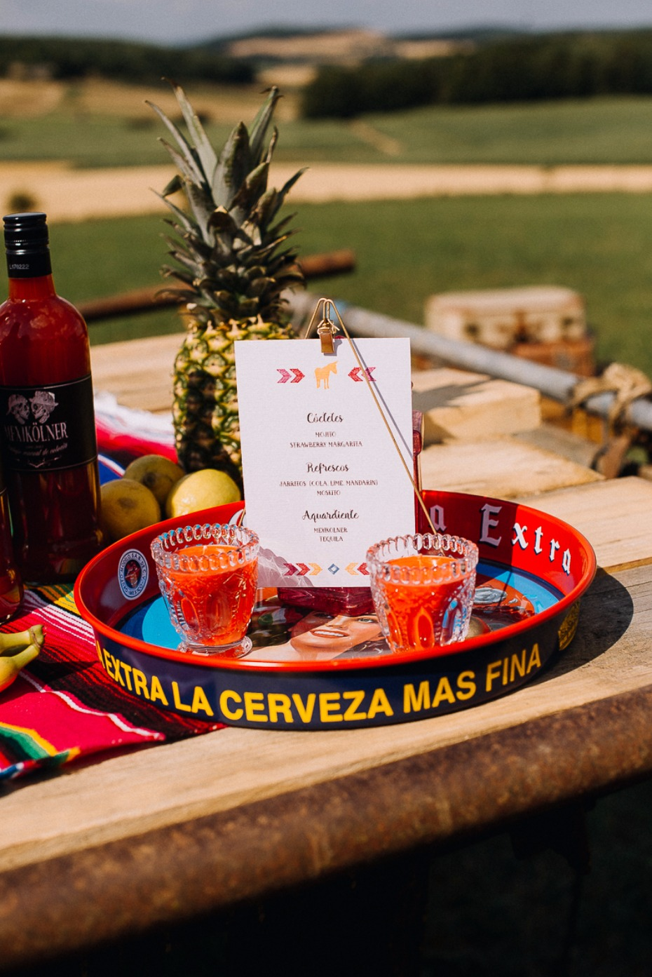 bar menu with a fiesta style