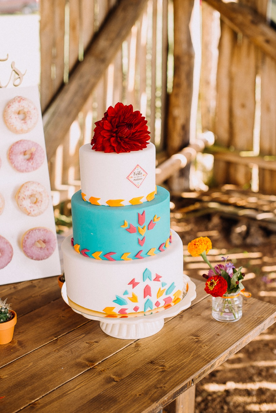 fun and funky wedding cake for your fiesta