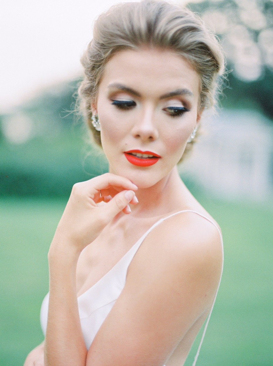 Classic beauty with a red lip