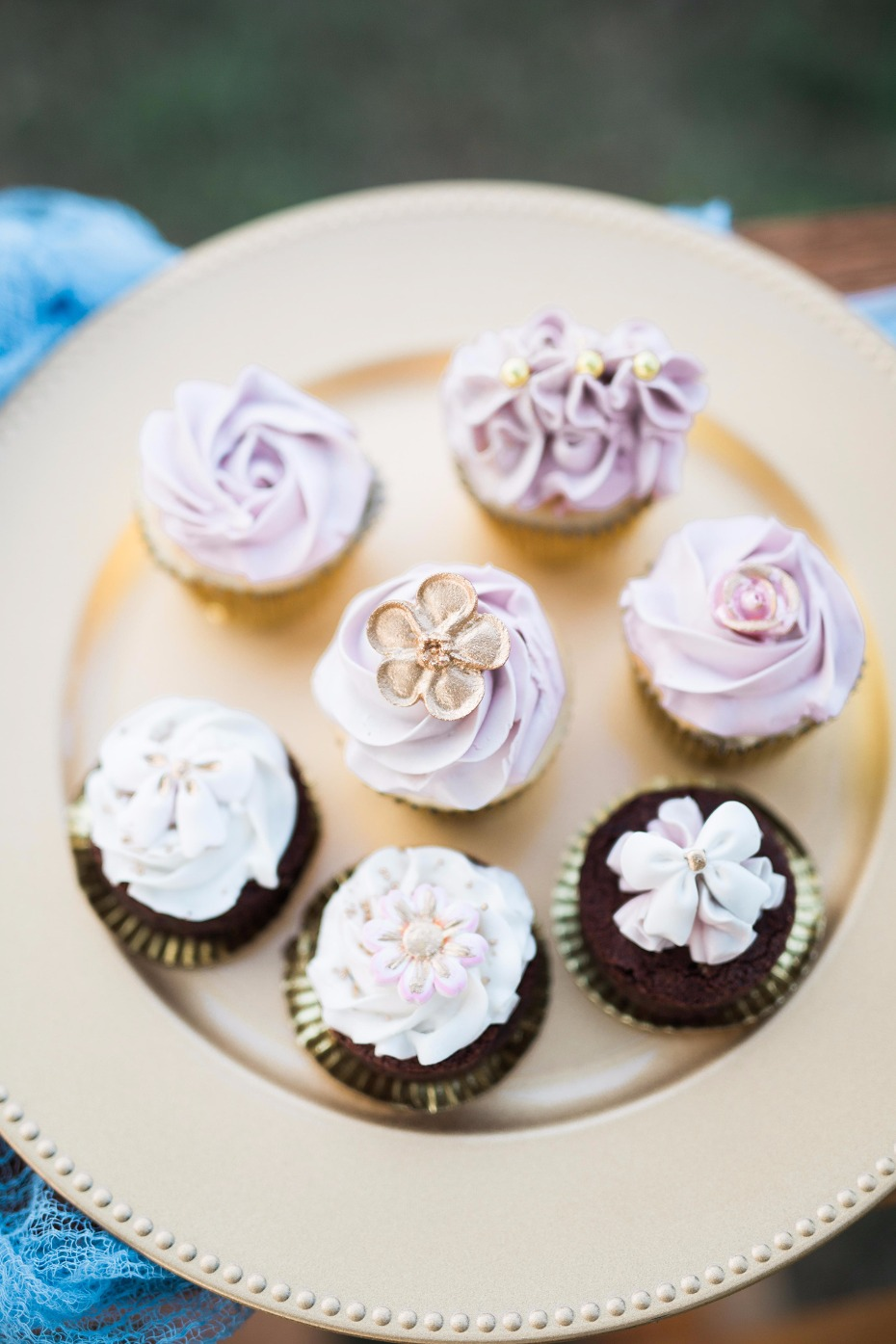 Tasty wedding cupcakes