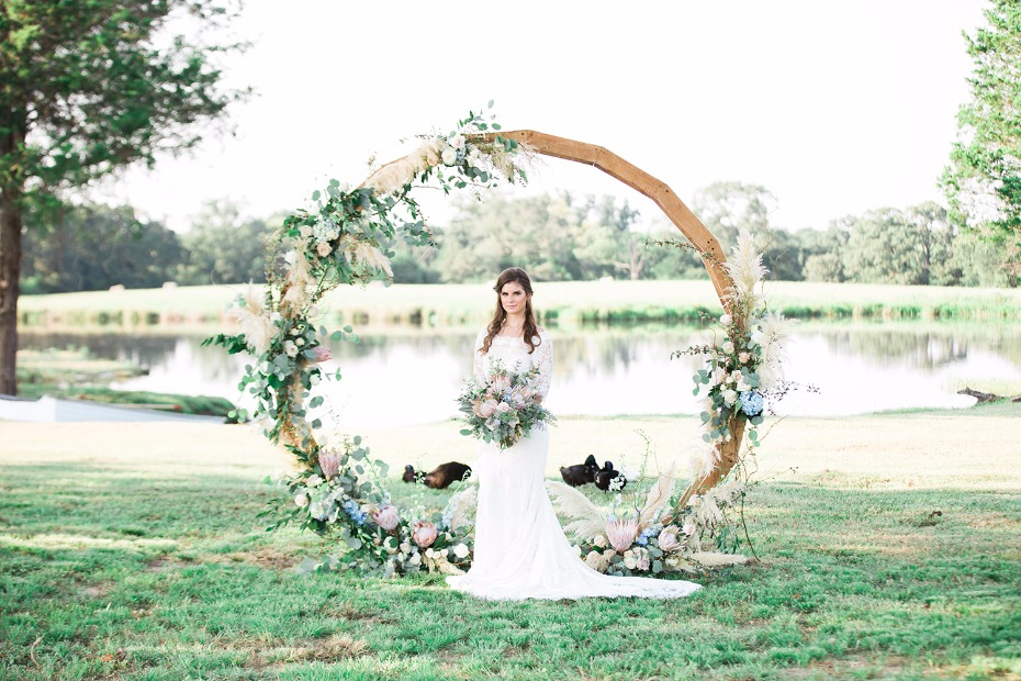 Gorgeous ceremony circle arch