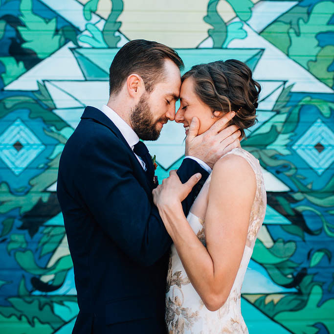 Leah and Devon held their wedding at the Redline Gallery in the trendy RiNo Art District of Denver Colorado. Congrats Leah and Devon