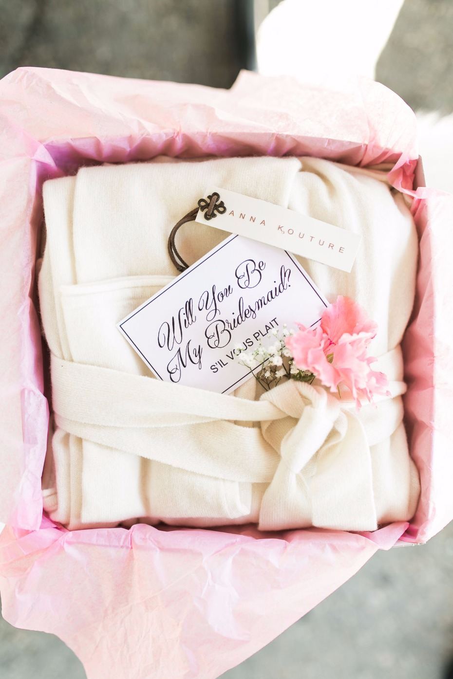 Will you be my bridesmaid gift- robe from Anna K.outure