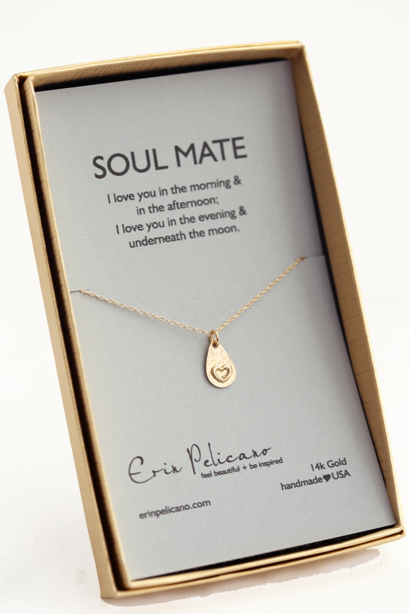 You've found your SOUL MATE, subtle, elegant fine jewelry by Erin Pelicano