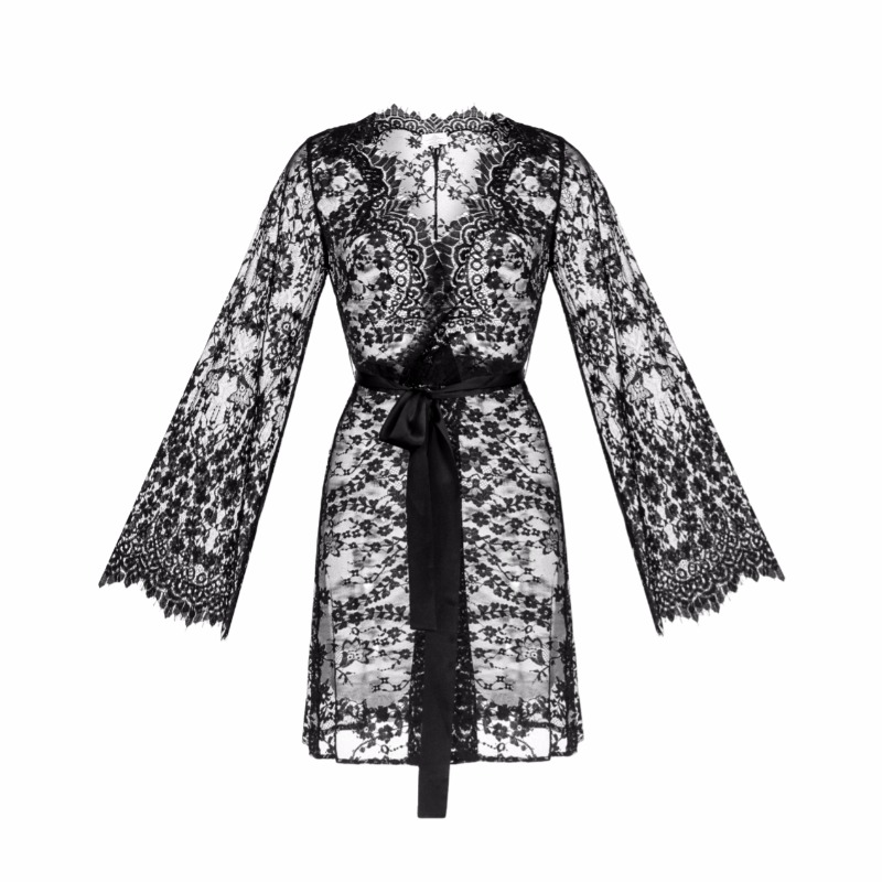 The softest Chantilly lace, silk belt and our work with love - there are three things that this robe consist of