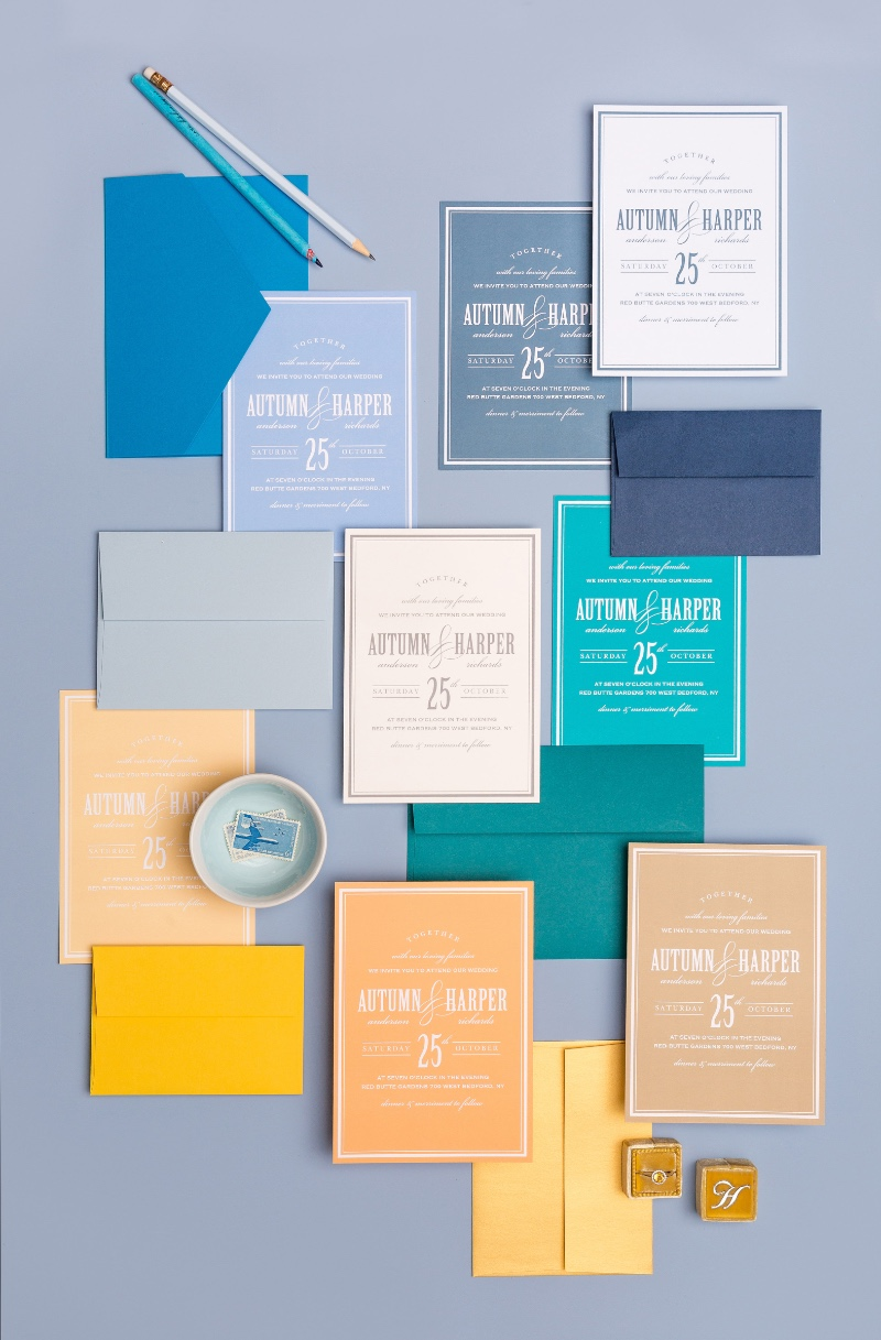 With over 180 color choices every bride can make her wedding invitation dreams come true! From small color details to bold looks, there
