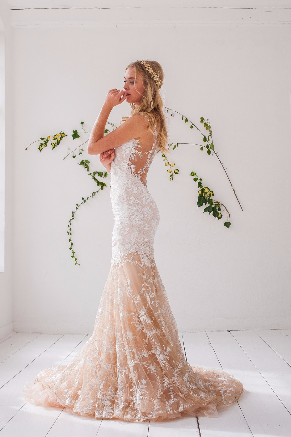 Two toned lace gown from Olvi's