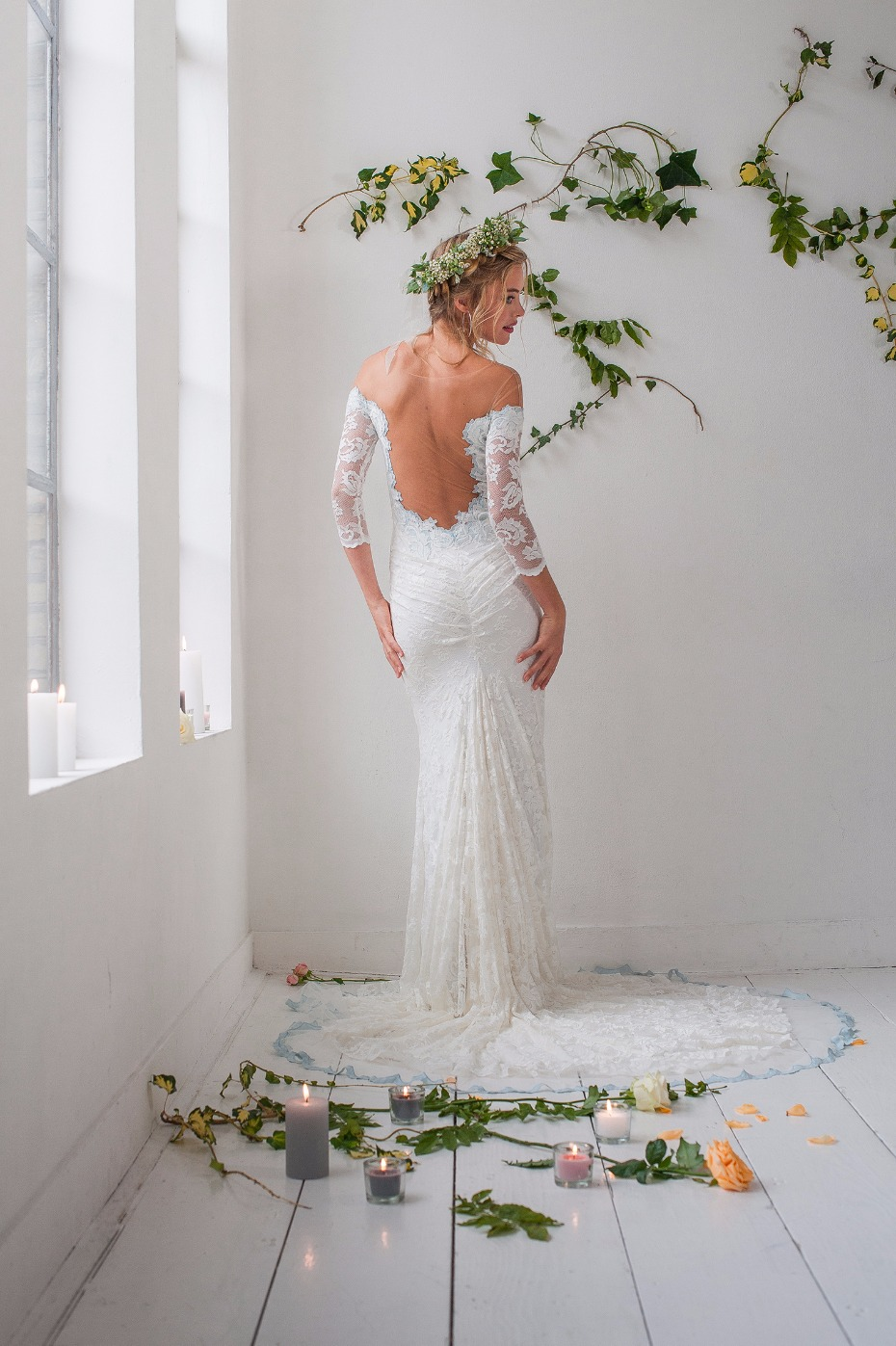 This lace gown will hug all your curves from Olvi's