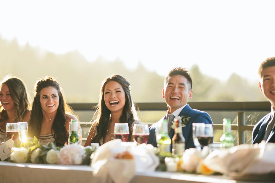 happy wedding party at the Thomas Fogerty Winery