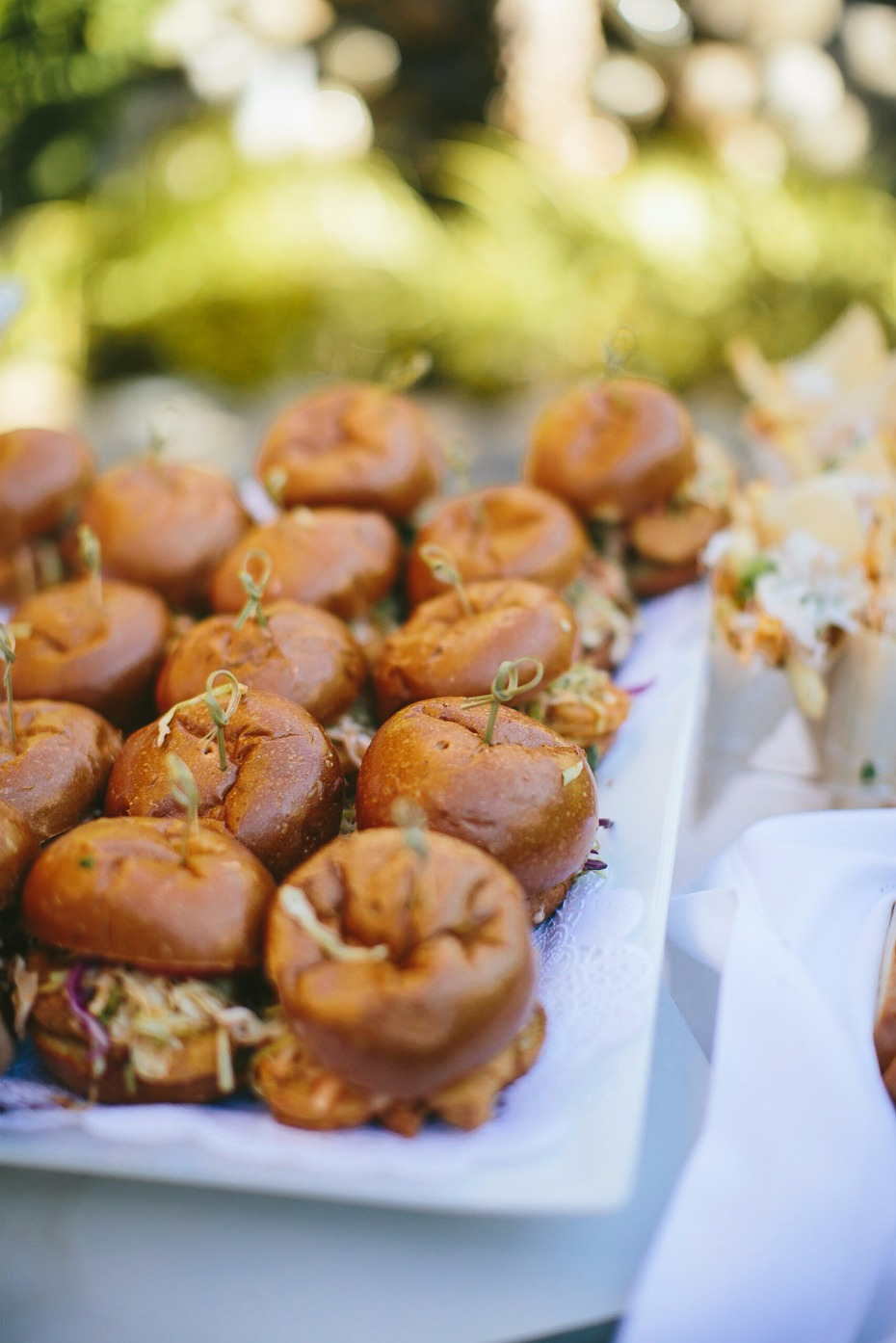 chicken sliders for your wedding reception