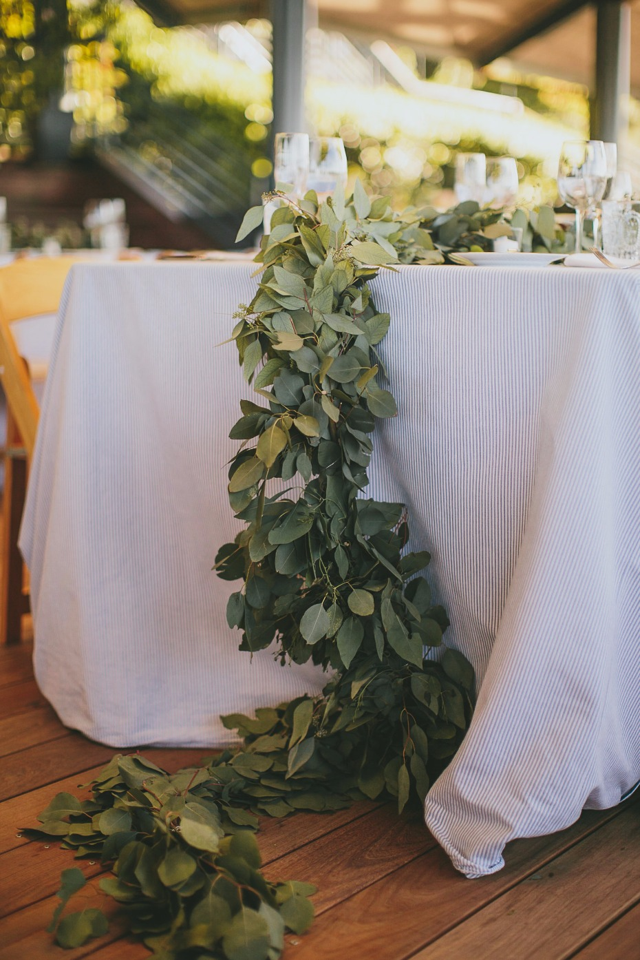 greenery wedding garland table centerpiece