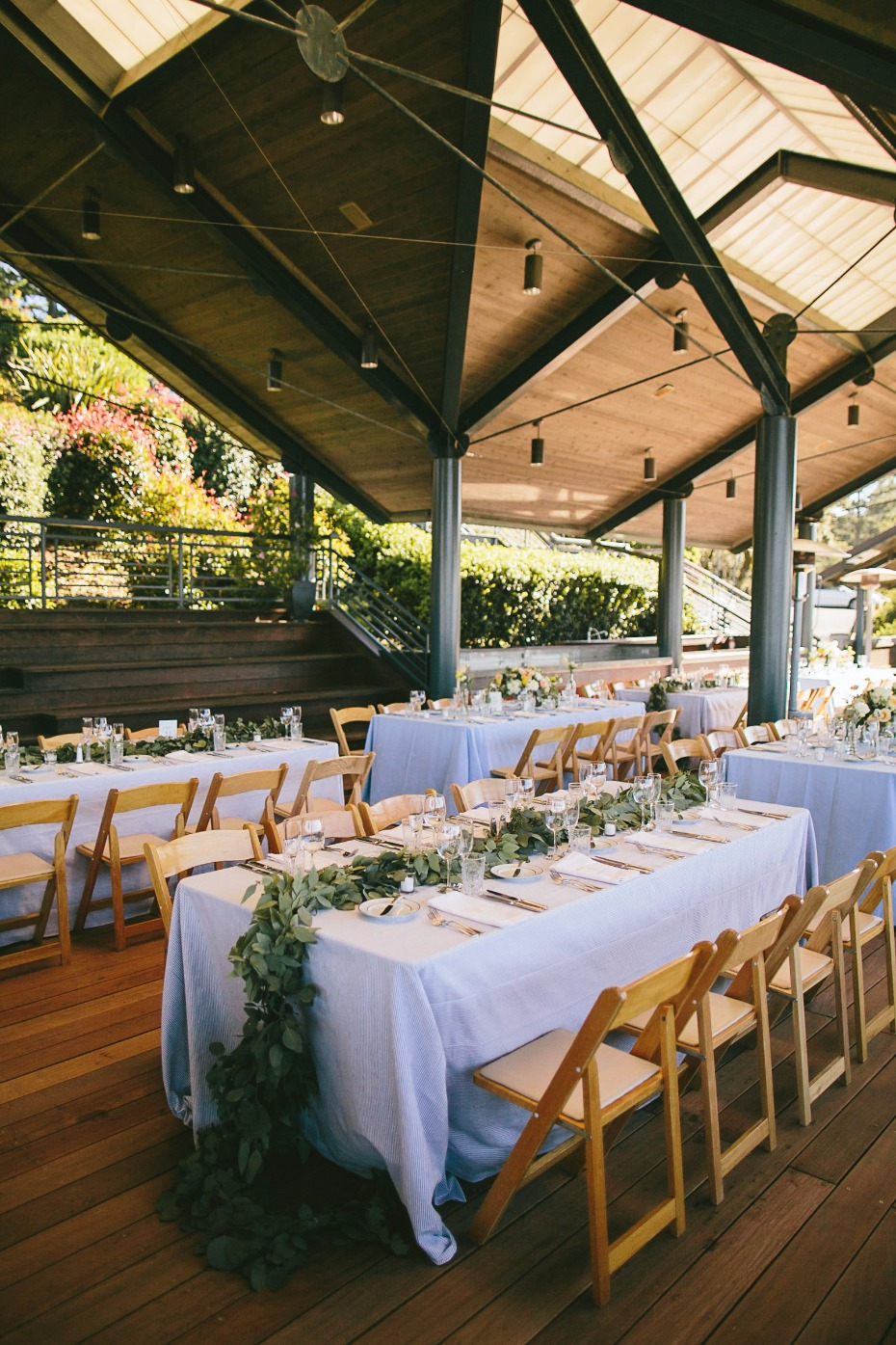 indoor outdoor wedding reception ideas at Thomas Fogerty Winery
