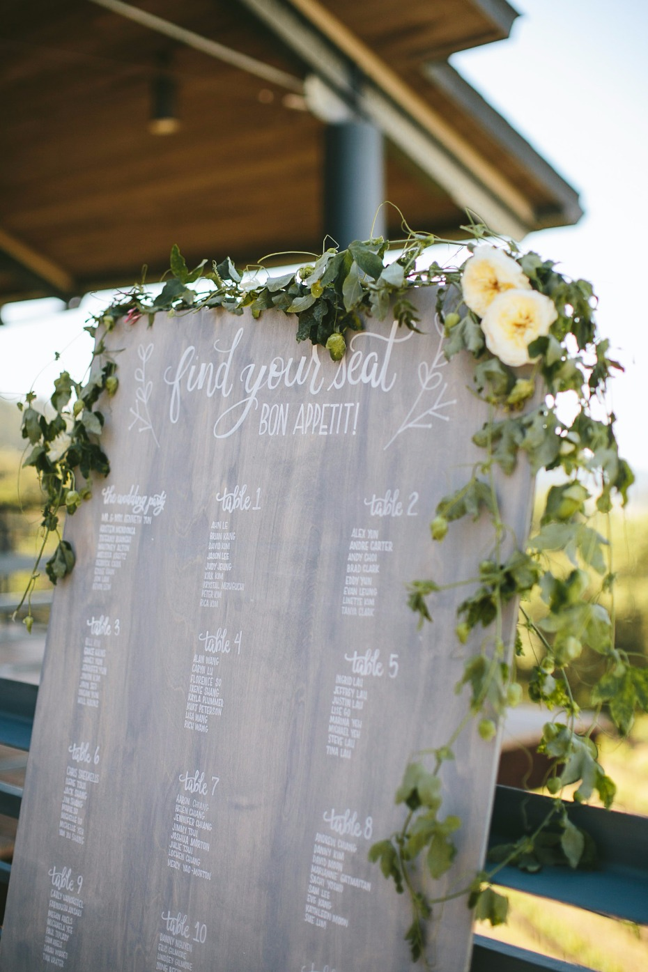 find your seat wedding seating assignment display