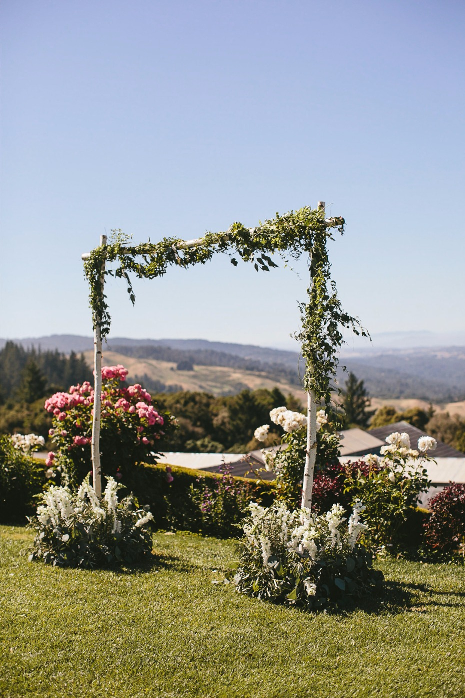 floral and organic style wedding arch