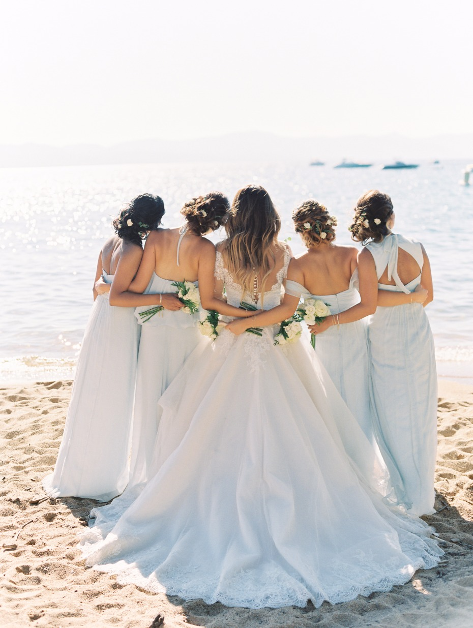A bride and her maids in Lake Tahoe