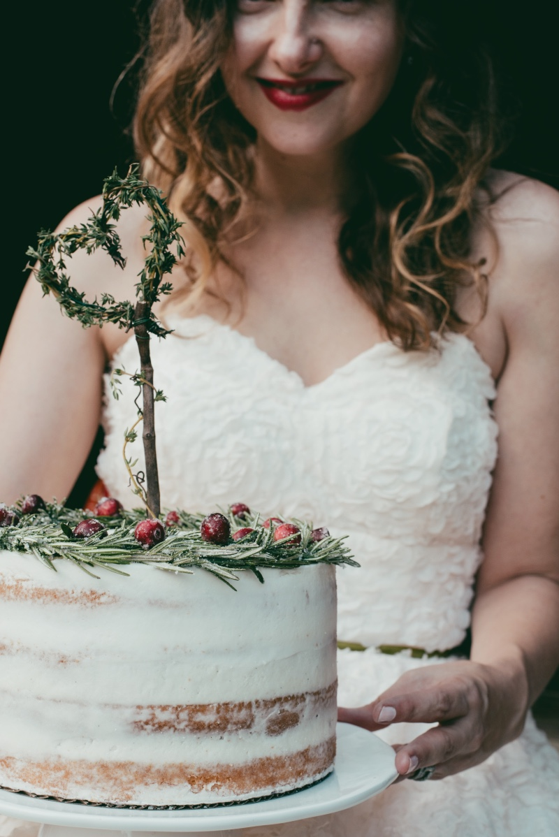 Boho Bride and rustic naked cake! Rustic, yet chic, a barn wedding is perfect for this look!
