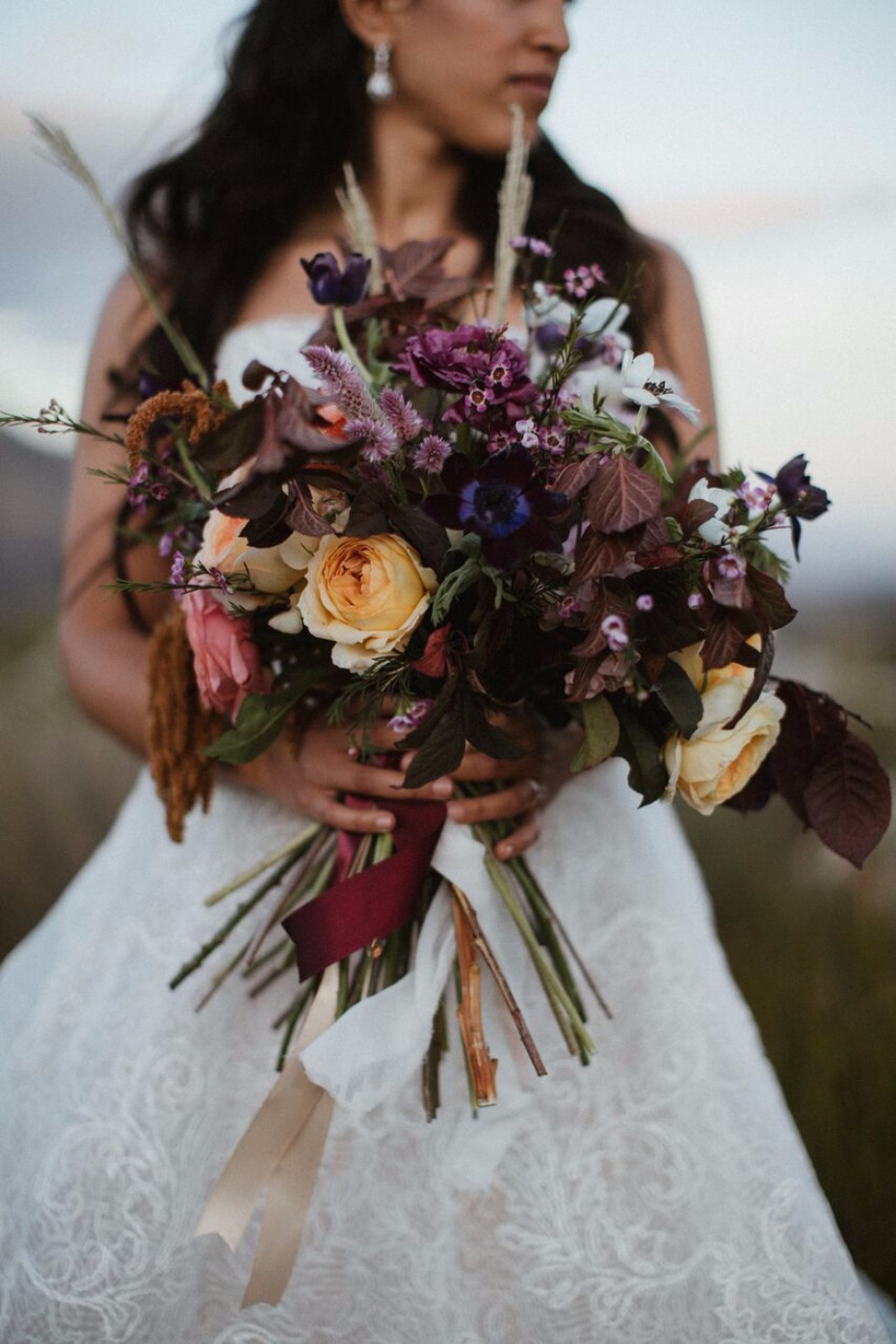 Wild and moody bouquet