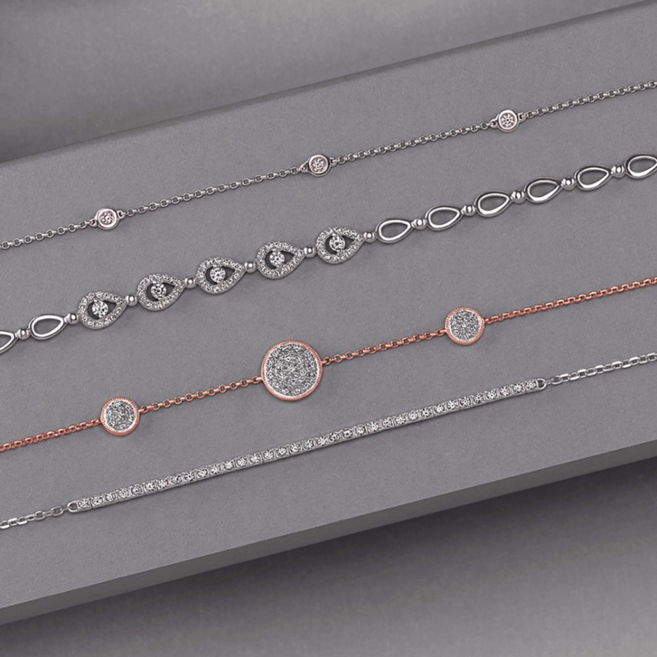 Holiday gift idea for her -diamond bracelets