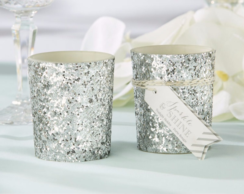 🕯️ Your reception tables will shine with an enchanting, silvery winter glow with these sparkling silver votive candle holder!
