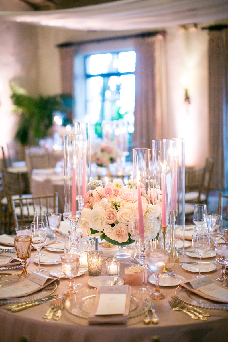 Blush Wedding at the Four Seasons Santa Barbara The Biltmore La Marina Room photography by Miki and Sonja Design by Magnolia Event