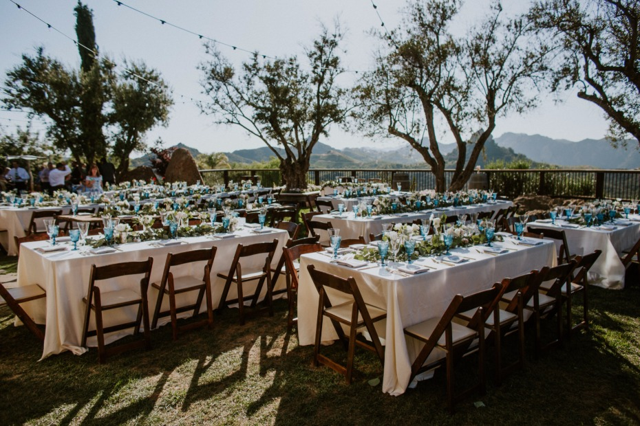 Outdoor reception in Malibu