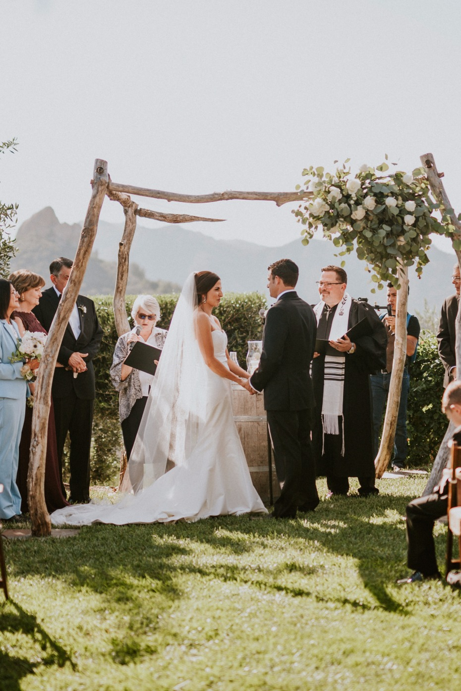 Outdoor ceremony in Malibu