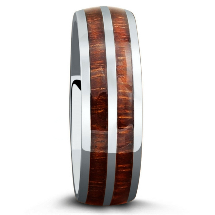 Men's woodland wedding ring. The ideal wedding ring for the true outdoorsman! Made with a part of nature.