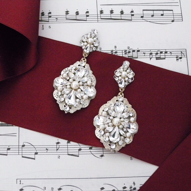 Music to your ears ~ Find a unique collection of chandelier & statement earrings for the bride, wedding party and black tie affairs