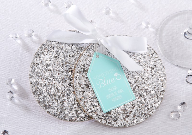 Sparkly silver glitter is the perfect complement to decor at your winter bridal shower or engagement party.