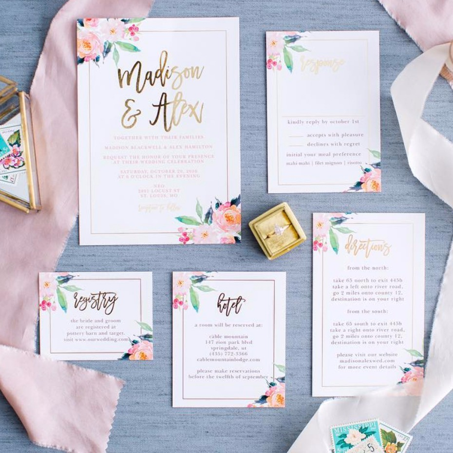basic invite wedding invites