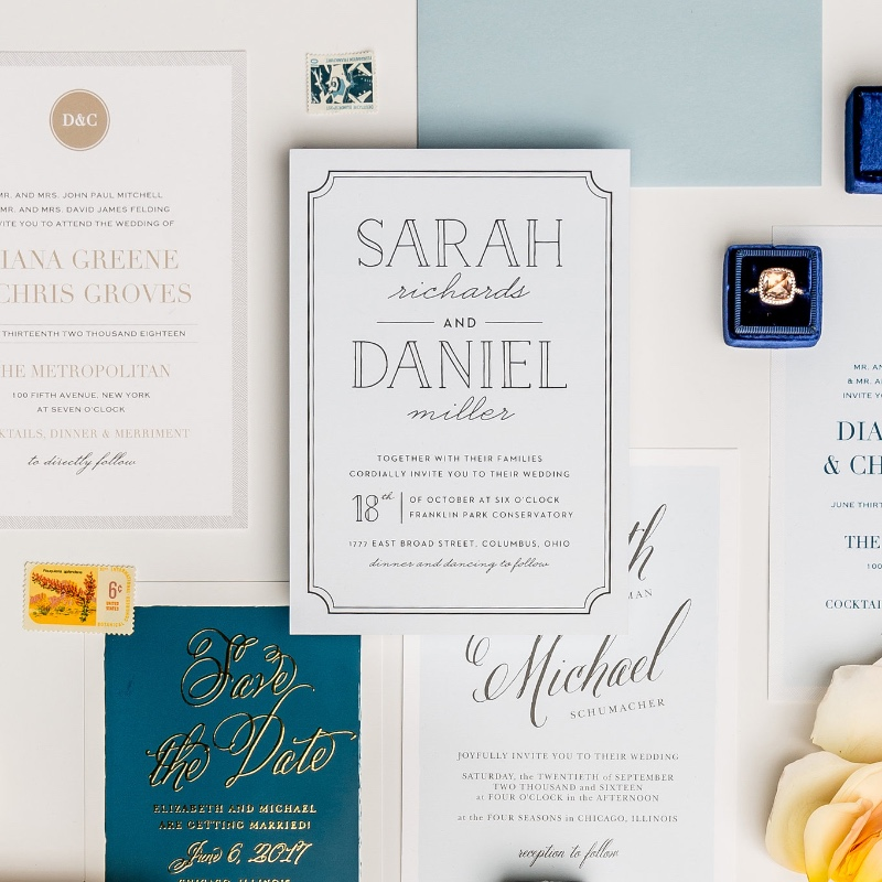 Now, we have over 800 wedding invitation designs to choose from. It may sounds daunting, but every design is so gorgeous you can't