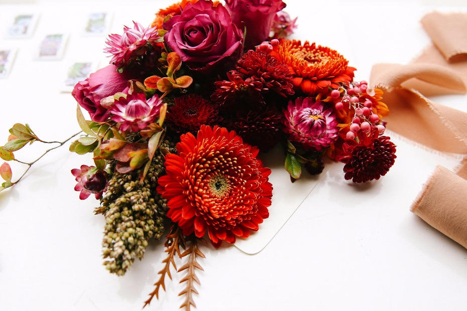 Fall harvest wedding floral ideas