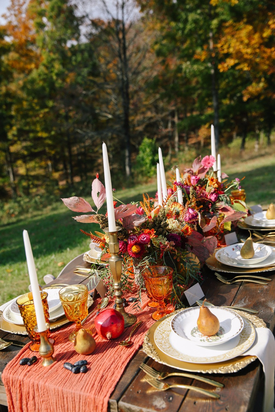 wedding table decor for your fall wedding