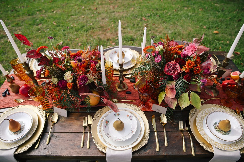 the perfect fall wedding table decor