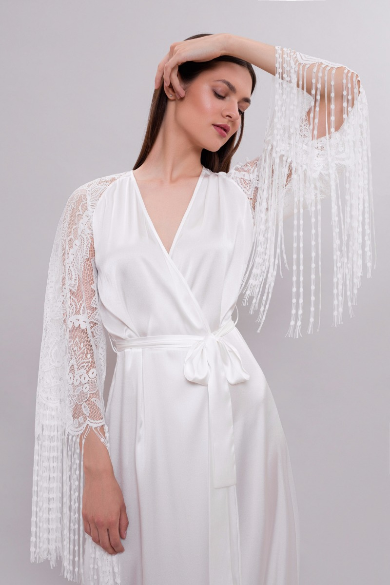Bohemian style bridal robe from our collection