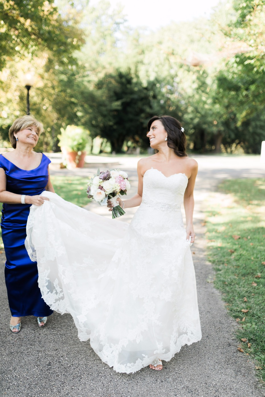 strapless wedding dress from Watters