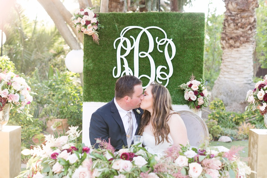 Monogrammed backdrop