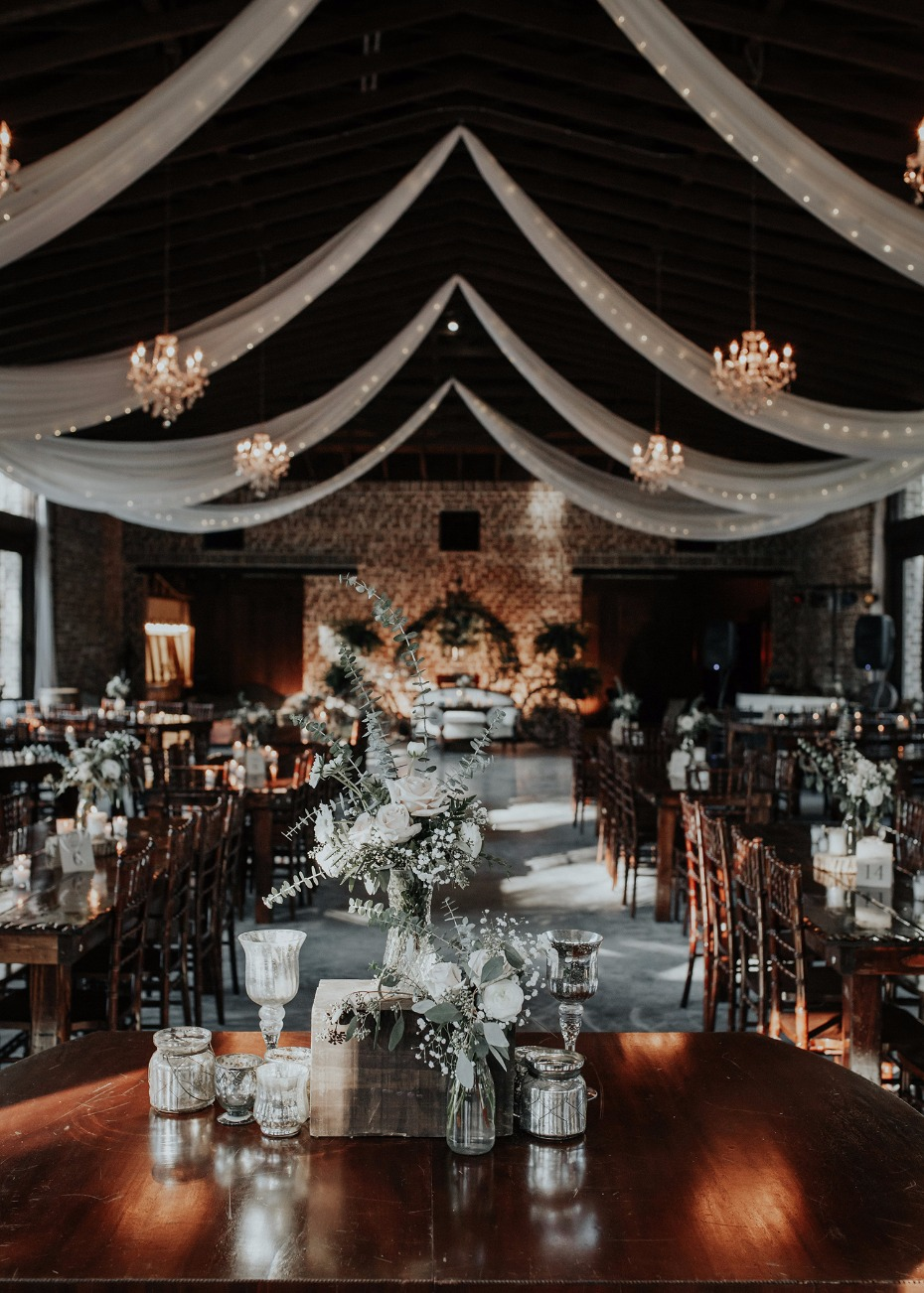 elegant and rustic wedding reception
