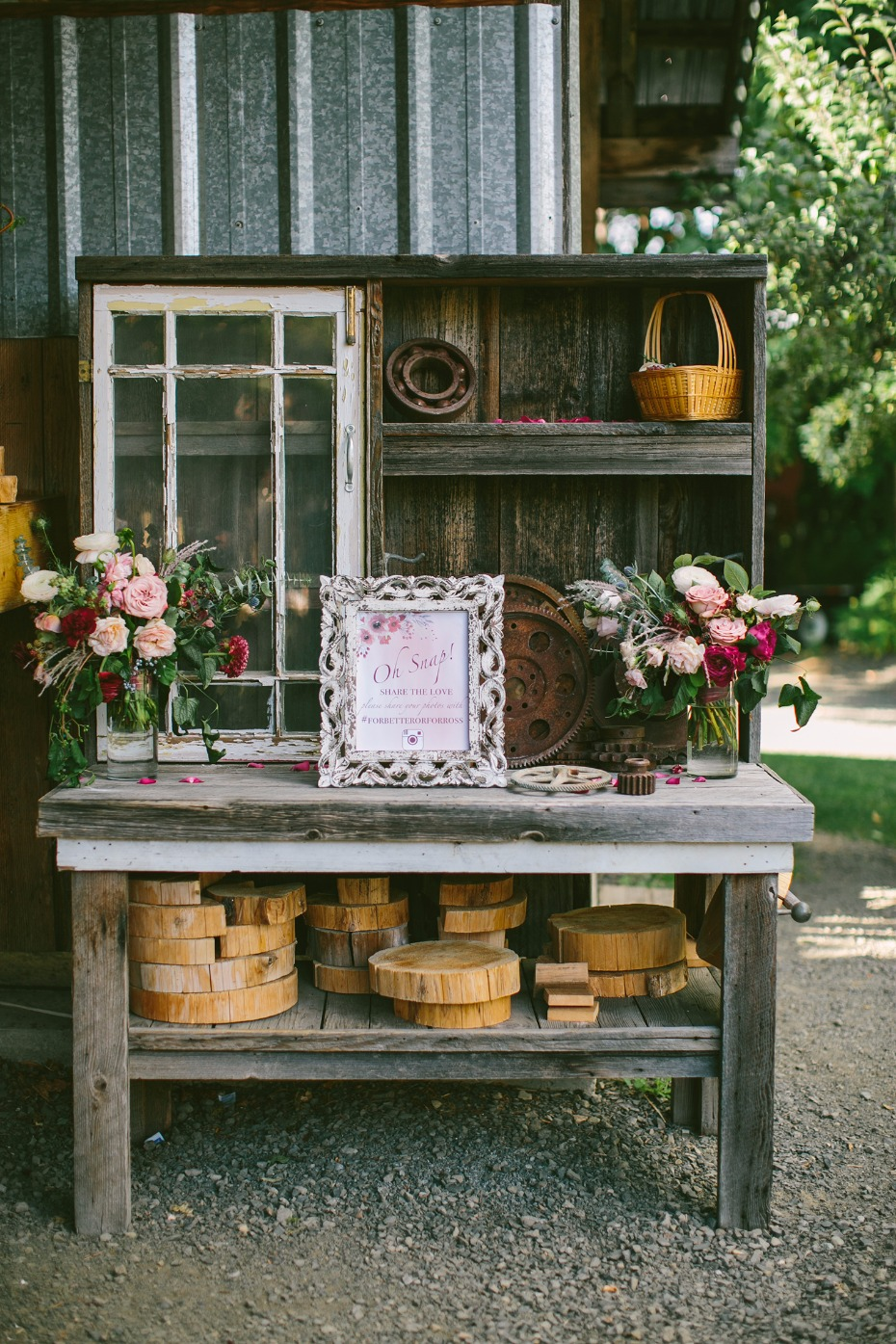 Oh snap! Rustic decor