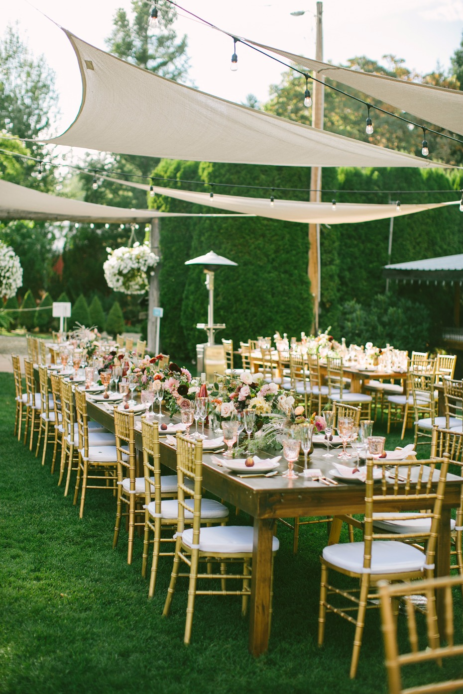 Pretty outdoor reception