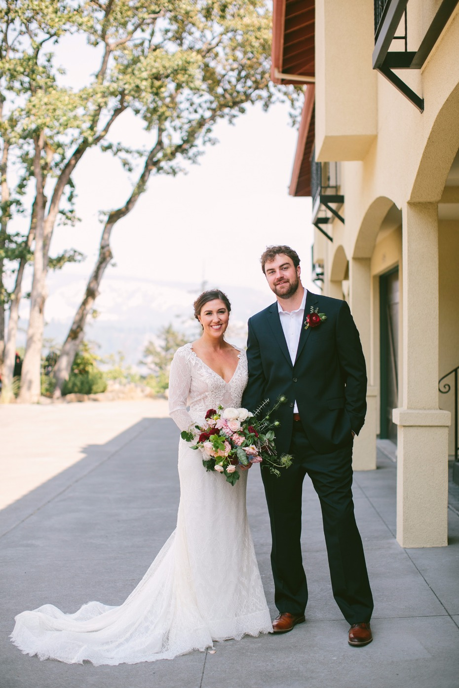 Gorgeous burgundy and blush wedding