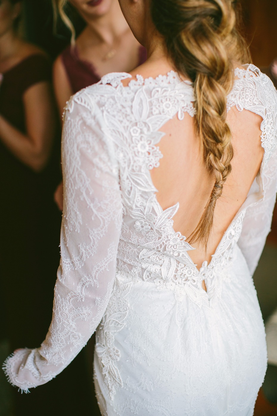 Heart open back wedding dress