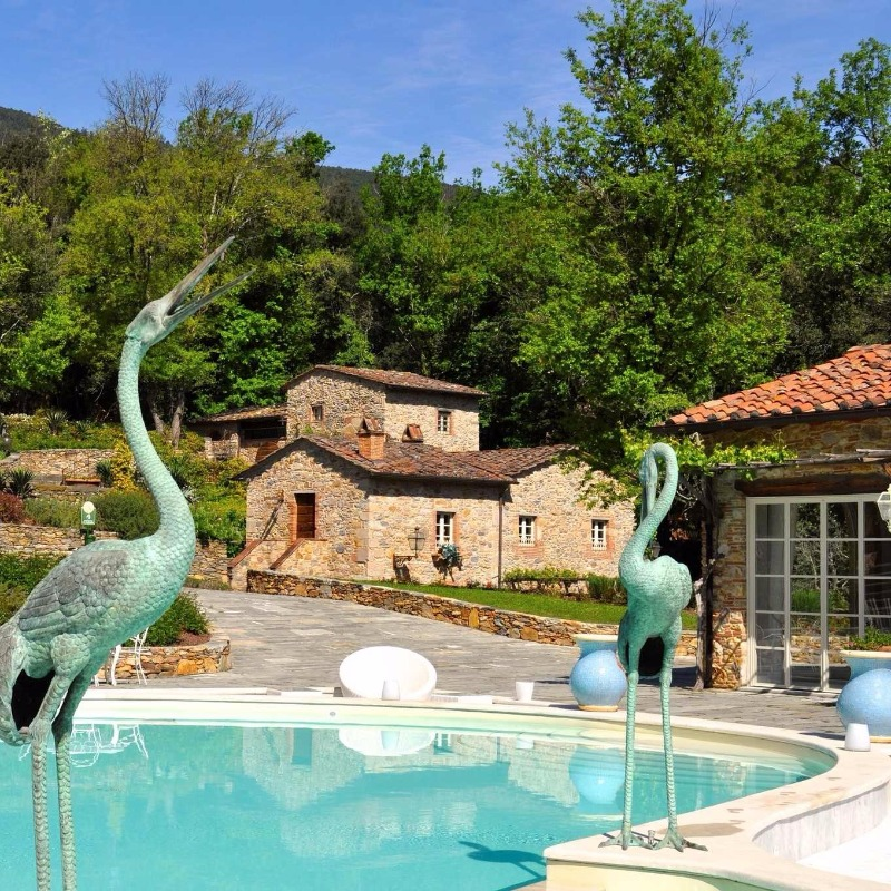 Herons in the sunshine…don't be down now that winter's here – Spring will soon be back at Valle di Badia! #dreamweddinglocation