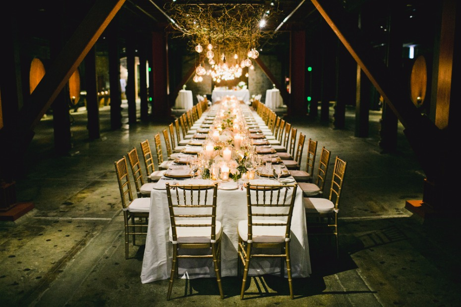 winery barrel room wedding reception