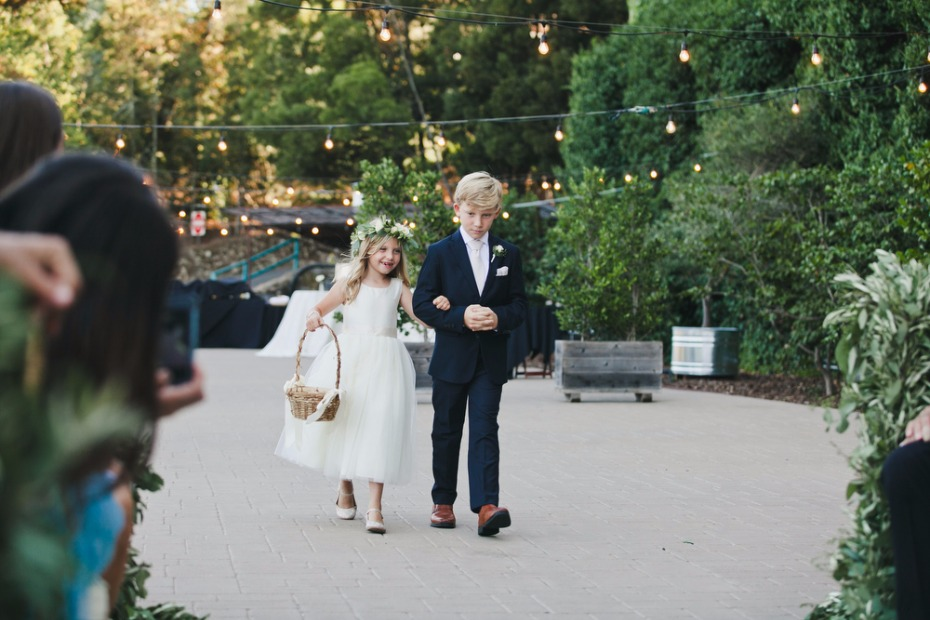 cute little flower girl and ring bearer