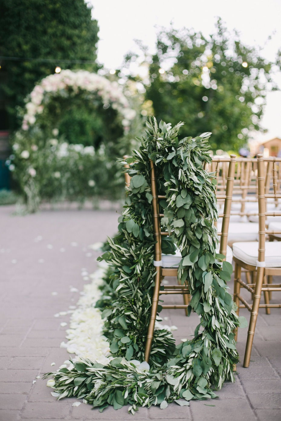 cascading greenery wedding garland