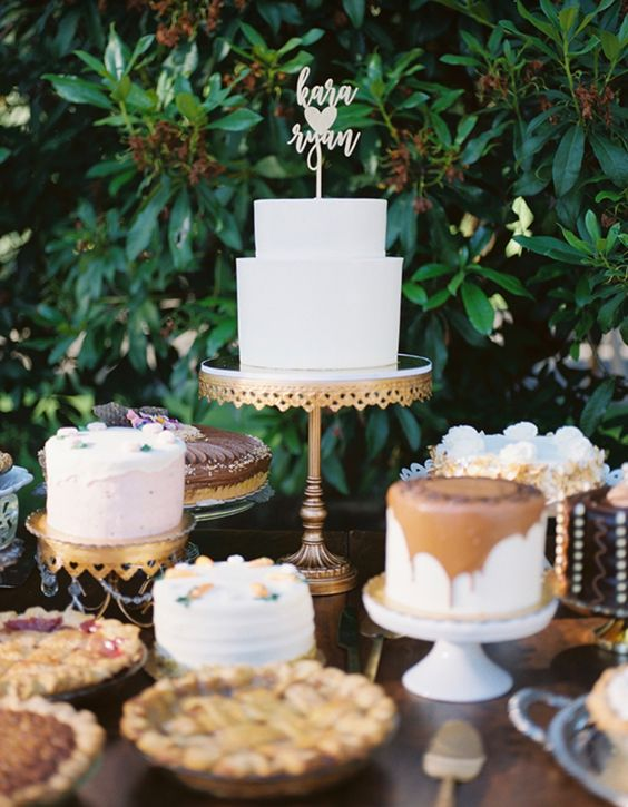 Delicious Dessert Tables for your Wedding Day! Decorate your table with Opulent Treasures Cake Stands.