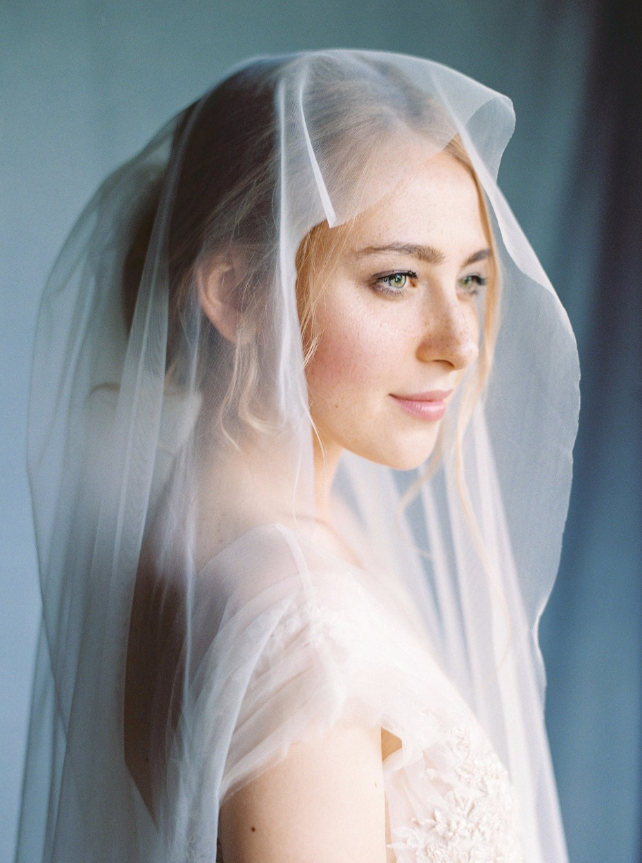 romantic and classic bridal portrait