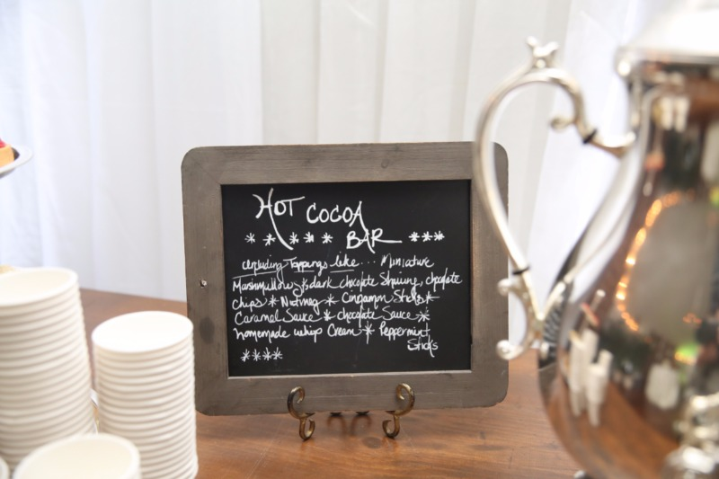 A hot cocoa bar is an absolute necessity for any winter wedding!