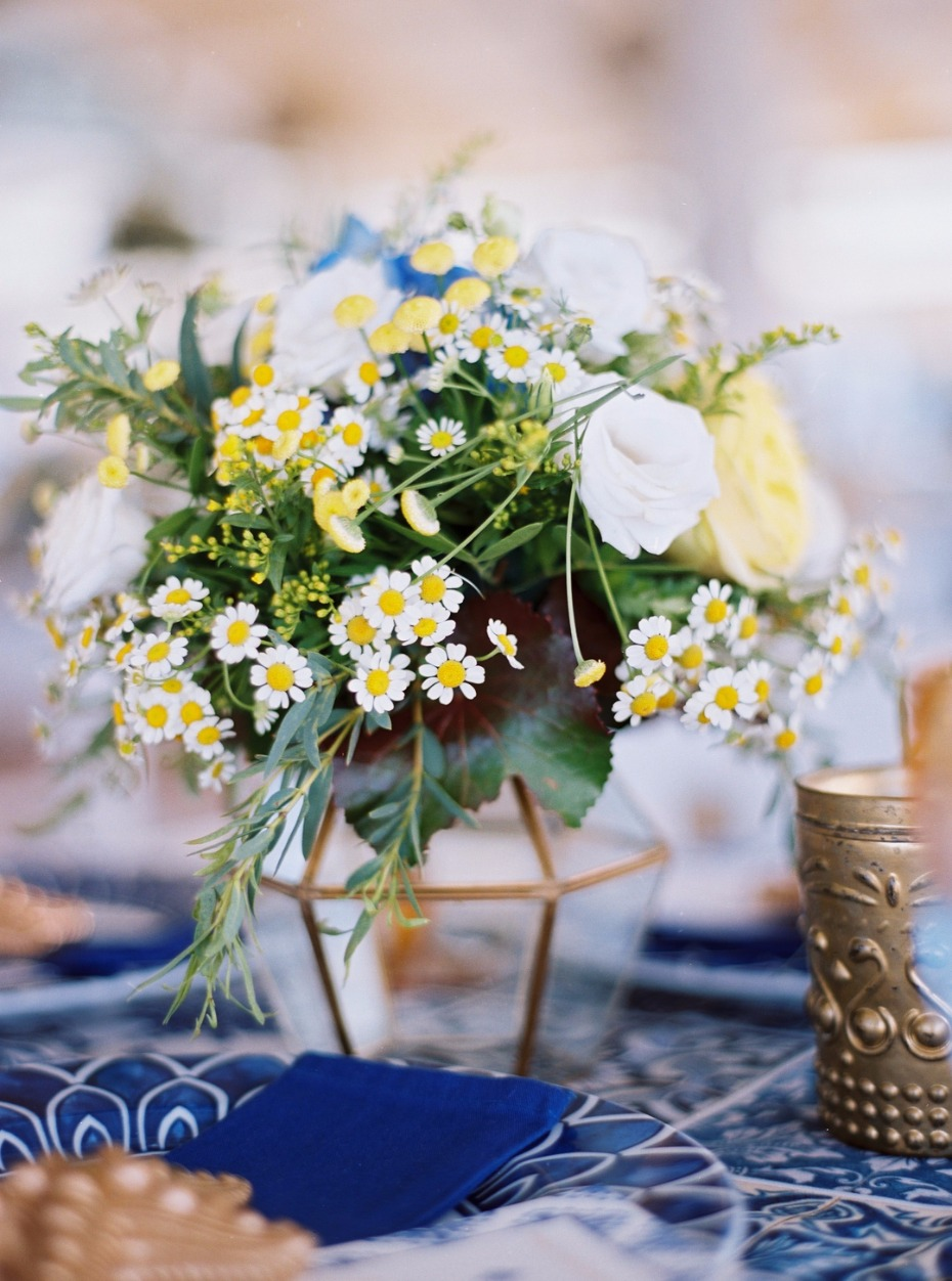 Cute centerpiece in geometric vase